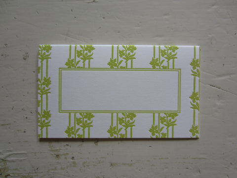 wallpaper chartreuse place cards