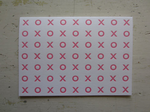xoxo pink folded notes