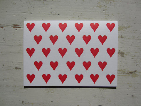heart red folded notes