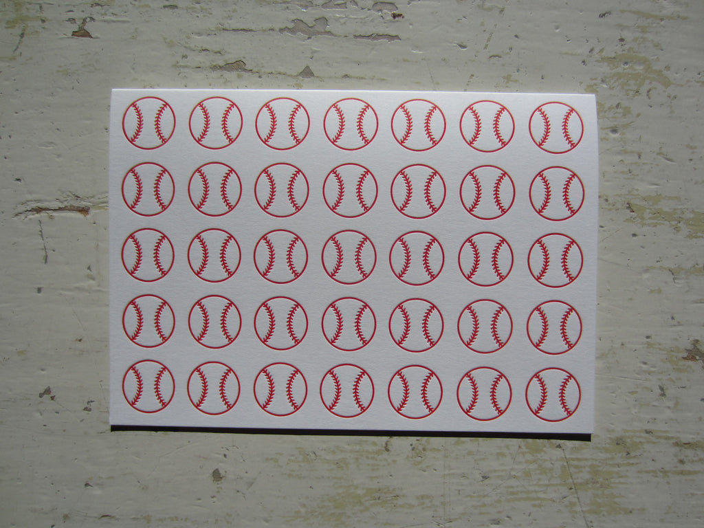 baseball red folded notes