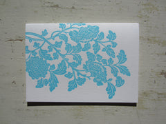 blossom aqua folded notes