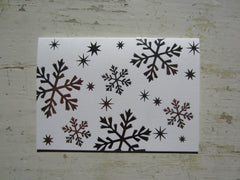 snowflake silver folded notes