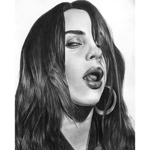 """Billie Eilish"" Original Drawing"