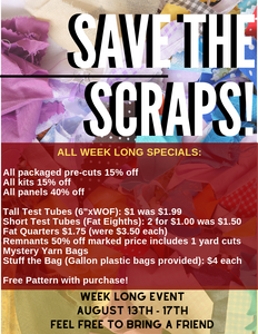 Save The Scraps!  New Event Coming!