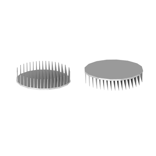 ⌀165mm(⌀6.5'') H35mm(1.38'') 160ASL 16sided LED Heatsink