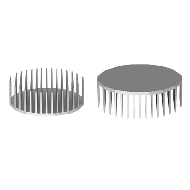 ⌀165mm(⌀6.5'') H55mm(2.17'') 165ASL 16sided LED Heatsink