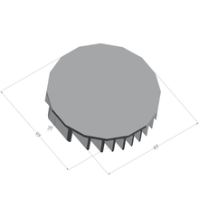 Load image into Gallery viewer, ⌀95mm(3.74'') H20mm/0.79'' 64ASL 16sided LED Heatsink