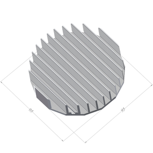 ⌀95mm(3.74'') H20mm/0.79'' 64ASL 16sided LED Heatsink