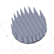 Load image into Gallery viewer, ⌀85mm(⌀3.35'') H35mm(1.38'') 860ASL 16sided LED Heatsink