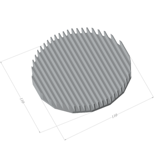 ⌀110mm(⌀4.33'') H12.5mm(0.49'') 851ASL 16sided LED Heatsink