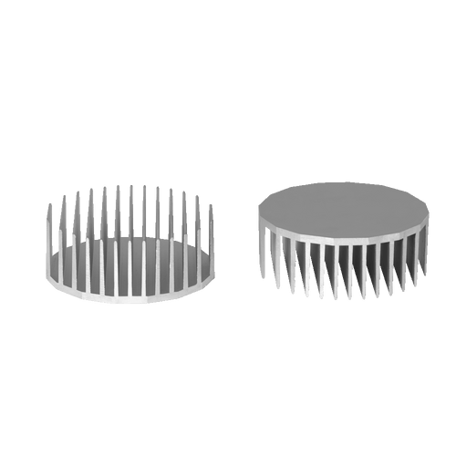 ⌀140mm(⌀5.51'') H55mm(2.17'') 665ASL 16sided LED Heatsink