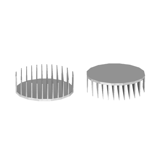 ⌀110mm(⌀4.33'') H35mm(1.38'') 760ASL 16sided LED Heatsink