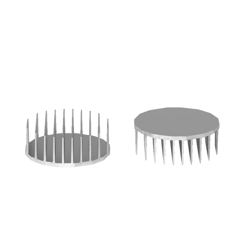 ⌀95mm(3.74'') H35mm(1.38'') 960ASL 16sided LED Heatsink