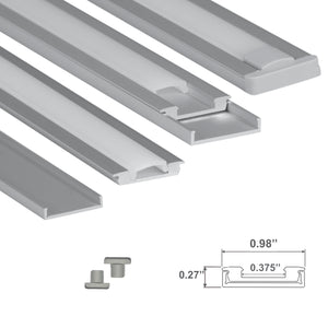 Ultra Low-Profile LED Channel - 968 (4ft/8ft)