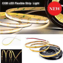 Load image into Gallery viewer, Cob Led Flexible Strip Light - Warm/cool White 4.5Watt/ft 24V 110Lm/ft 16Ft (5M) Lights