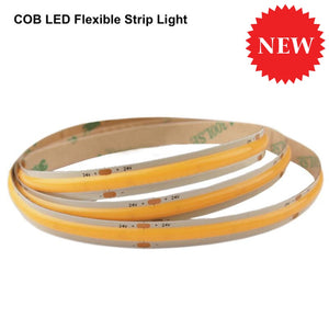 Cob Led Flexible Strip Light - Warm/cool White 4.5Watt/ft 24V 110Lm/ft 16Ft (5M) Lights