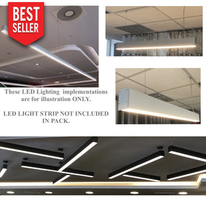 Pendant Linear Led Channel - 560 Series - 2'' x 3''