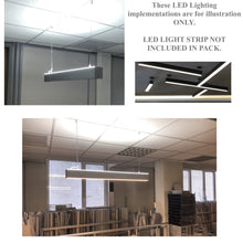 Load image into Gallery viewer, Up & Down Pendant Linear Led Channel - 550 Series - Direct & Indirect Lighting