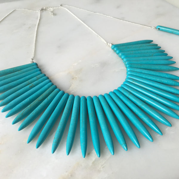 Journey Within Howlite Statement Choker Neckpiece