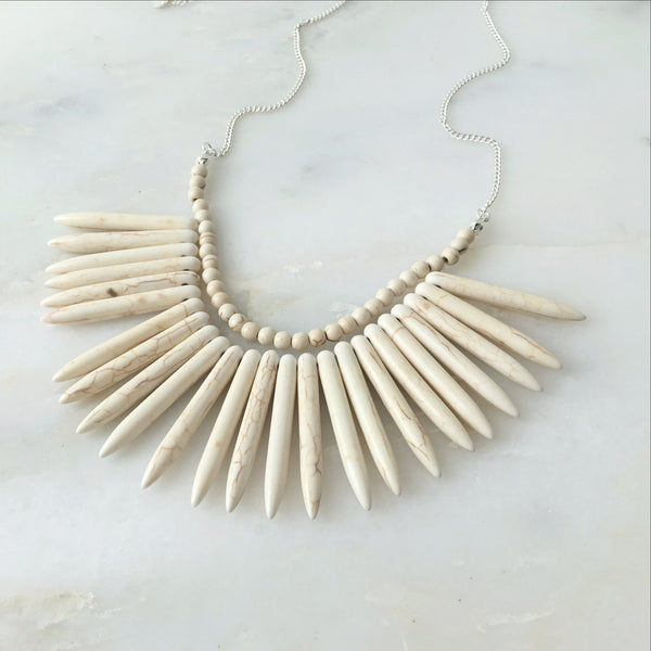 Journey Within Howlite Necklace