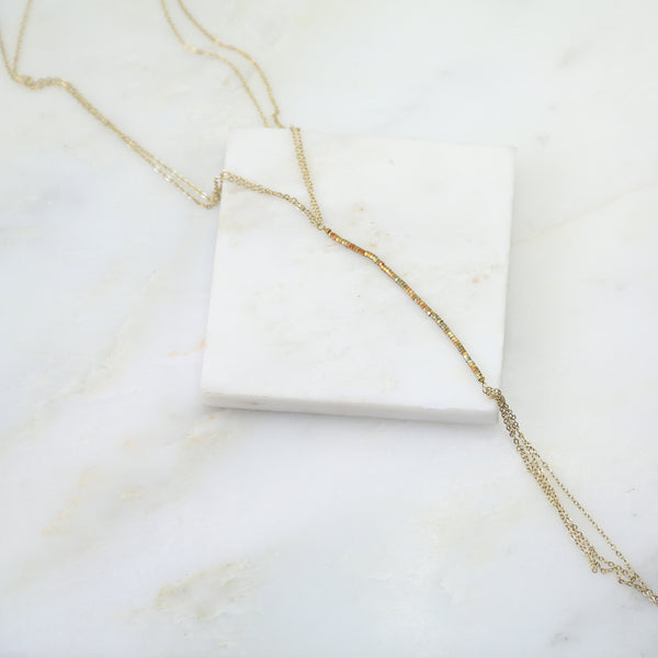 Liquid Gold Lariat Necklace