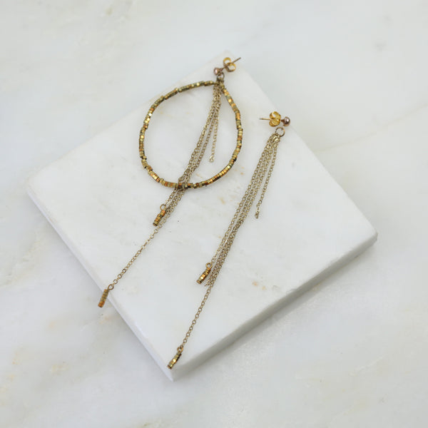 Liquid Gold Hoop Dangle Earring