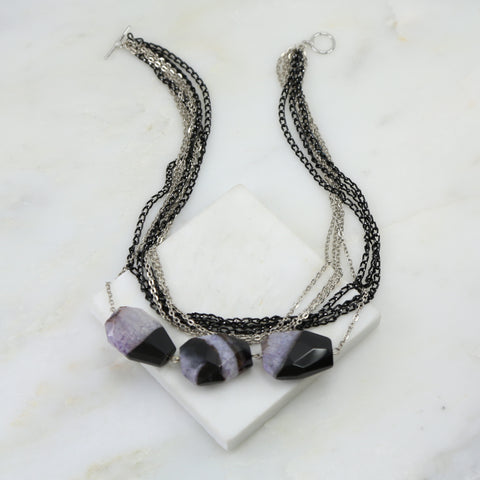 Pharaoh's Agate Layered Necklace
