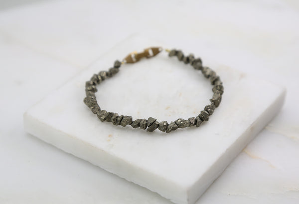 Portal of Light Mens Pyrite Bracelet
