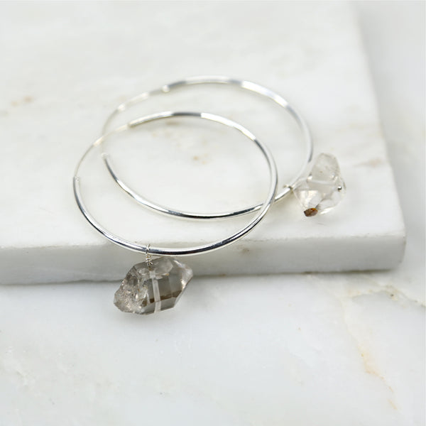 Portal of Light Large Herkimer Diamond Hoop