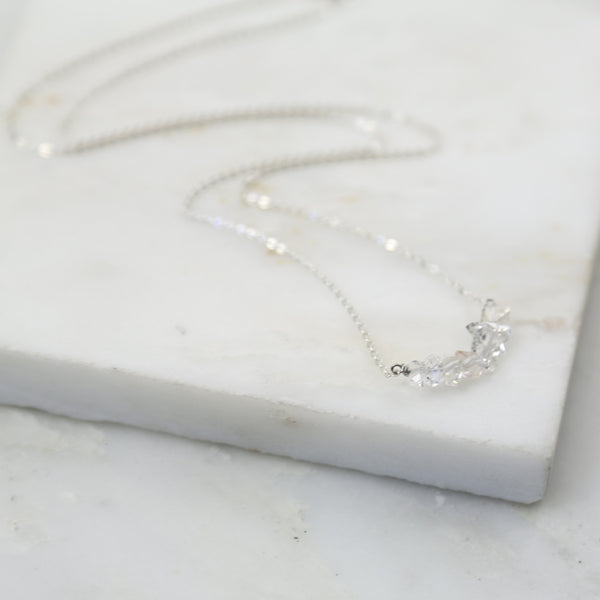 Portal of Light Fine Herkimer Diamond Necklace