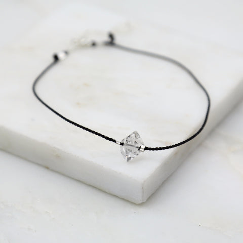 Portal of Light Herkimer Diamond Thread Anklet