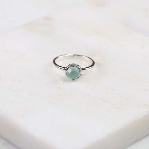 Fine Treasures Aqua Chalcedony Ring