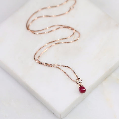 Under Her Spell Agate Ruby Pendant