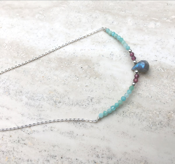 Aphrodite Goddess Gemstone Necklace or Choker