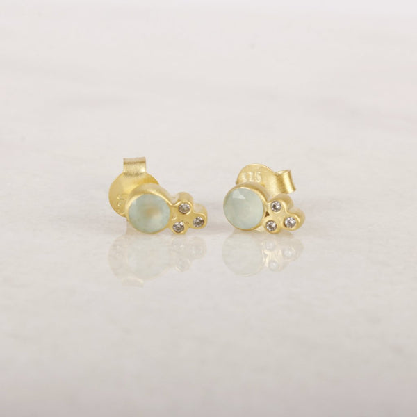 Shooting Love Multi Stone Stud Earring