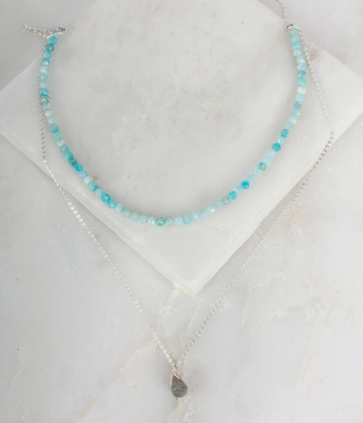 Fine Treasures Amazonite Teared Necklace or Choker