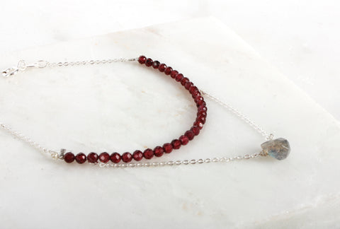 Fine Treasures Garnet Teared Bracelet
