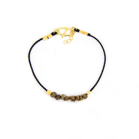 Gold Rush Citrine Nugget Thread Bracelet