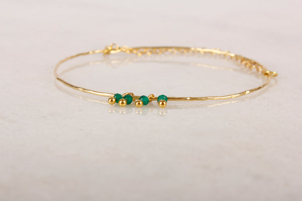 Razzle Dazzle Ruby Brass Bangle