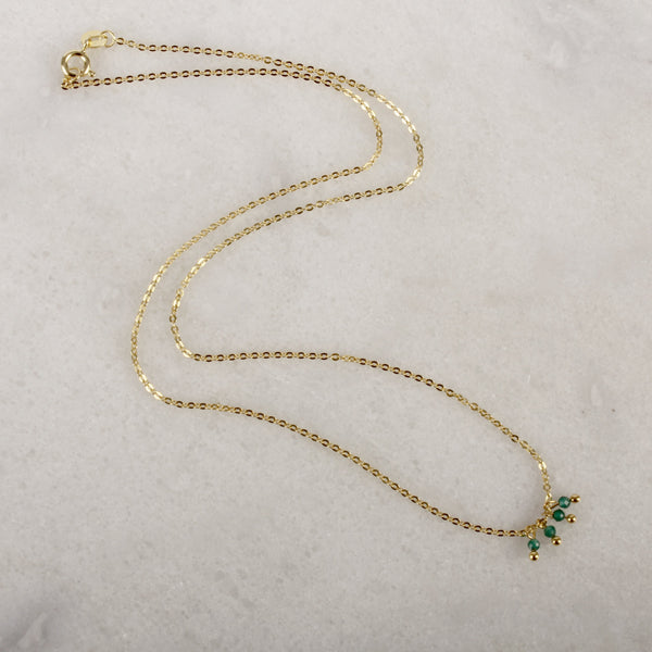 Razzle Dazzle Green Onyx Necklace