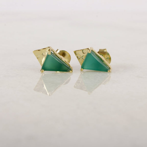 Golden Age Gemstone Stud Earring