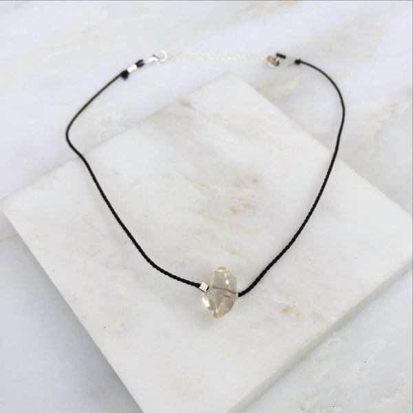 Portal of Light Herkimer Diamond Thread Choker