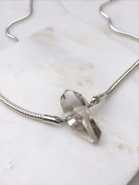 Portal of Light Herkimer Diamond Rope Chain Necklace