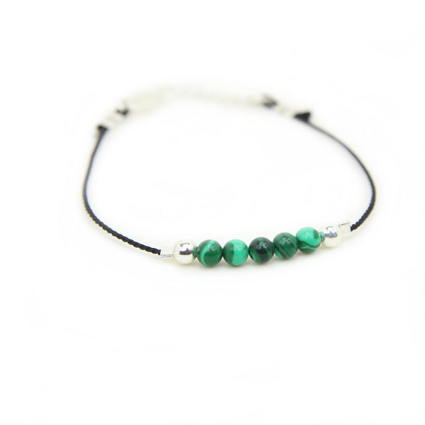 Illuminated Malachite Thread Bracelet