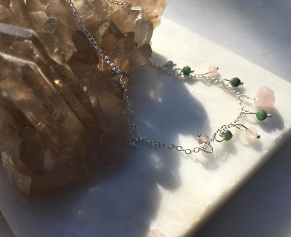 Kuan Yin Goddess Gemstone Trinket Choker or Necklace