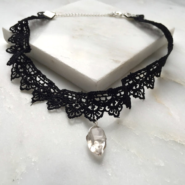 Portal of Light Herkimer Diamond Lace Choker