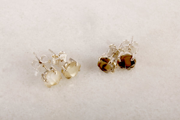 Once upon a stone Quartz Stud Earring