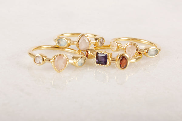 Shooting Love Multi Stone Ring