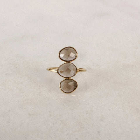 Belle Époque Smoky Quartz Statement Ring
