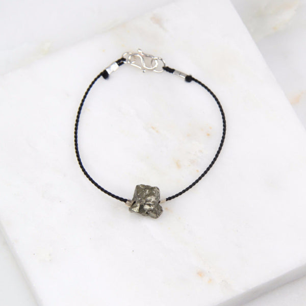 Portal of Light Pyrite Thread Bracelet